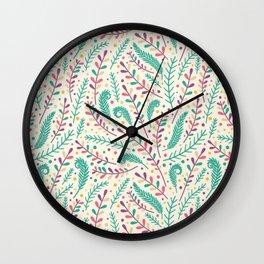flower patterns Wall Clock