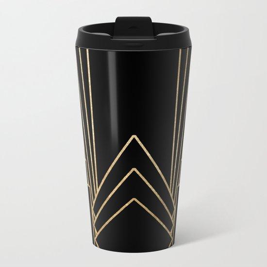 Art deco design Metal Travel Mug