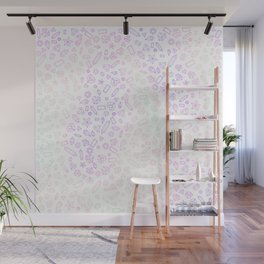Holographic Neon Gem Pattern Wall Mural