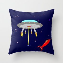 Earth, Moon and Star Crafts with Stars and Planets Throw Pillow