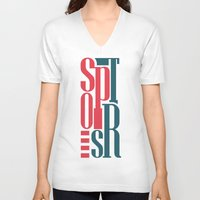sports V-neck T-shirts featuring Sports by Sabirg