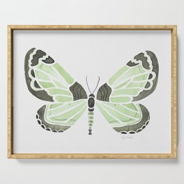 Green Grass Spring Butterfly Serving Tray