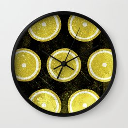 Orange Paint pattern Wall Clock
