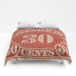 POSTAGE DUE THIRTY CENTS Comforters