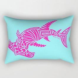 Nancy's Hot Pink Tribal Hammerhead Shark Rectangular Pillow