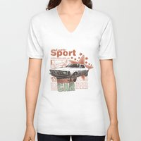 muscle V-neck T-shirts featuring Muscle Car by Tshirt-Factory