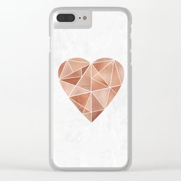 Mosaic Heart Clear iPhone Case