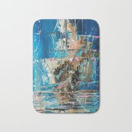 Ghost ship Bath Mat