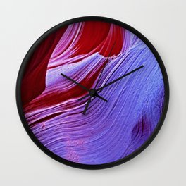 A Touch of Purple Wall Clock