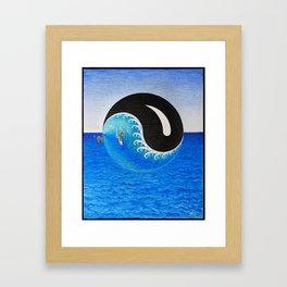 Black Swell Rising Framed Art Print