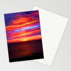 Sunset by the sea - Painting Style Stationery Cards