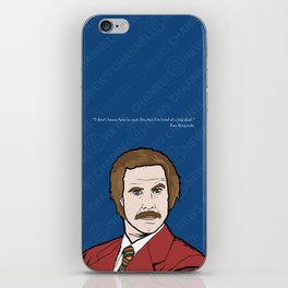 Ron Burgundy Anchorman  iPhone Skin