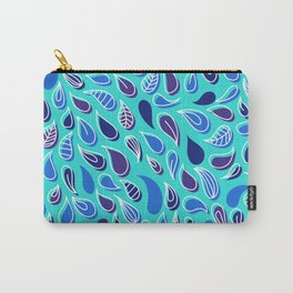 Blue pattern 3.3 Carry-All Pouch