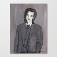 nick cave Canvas Prints featuring Nick Cave by Melinda Hagman