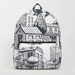 City pattern Backpack