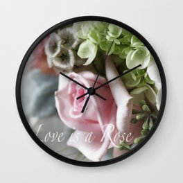 Love is a Rose Wall Clock