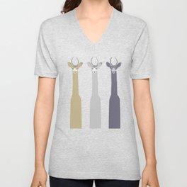 Triple Deers Unisex V-Neck