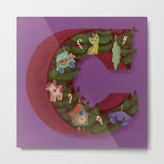 C is for Christmas Metal Print