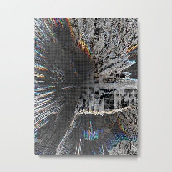 On the Grid Metal Print