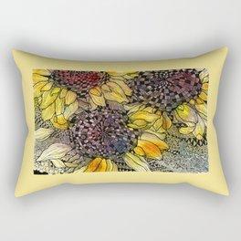 Ukrainian Sunflowers Rectangular Pillow