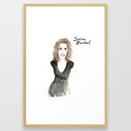 Sandra portrait Framed Art Print