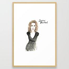Sandra portrait Framed Art Print