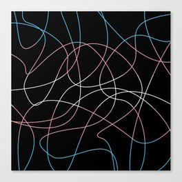 Abstract Threads – Transgender Pride Flag Canvas Print