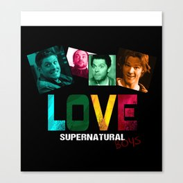 Supernatural Love for the Boys Canvas Print