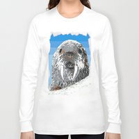 walrus Long Sleeve T-shirts featuring Walrus by wingnang