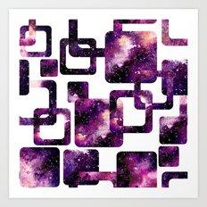 Galaxy Geometric Pattern 08 Art Print