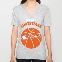 Highschool Basketball Santa Christmas Sport Gift Unisex V-Neck