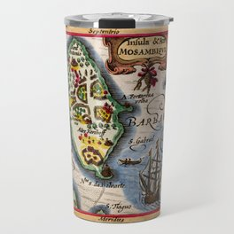 Map Of Mozambique 1618 Travel Mug