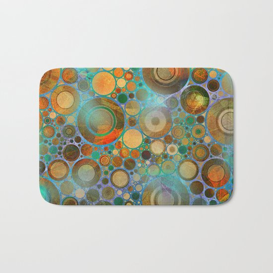 Abstract Circles Pattern Bath Mat