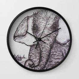 An Adorable Baby Elephant Wall Clock