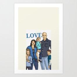 Chad's beautiful family Art Print