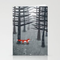 woods Stationery Cards featuring The Fox and the Forest by Nic Squirrell