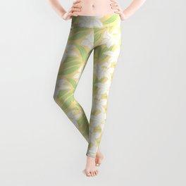 Japanese Yuri Lily Flowers Seamless Patterns Symbols Leggings