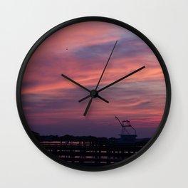 Holden Sunset Peach Wall Clock