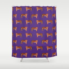 Exceptional Tigers Orange And Purple Clemson Football Fan Varsity University College  Athletics Shower Curtain