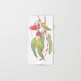 Flowering Silver Princess Eucalyptus Watercolour Hand & Bath Towel