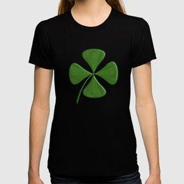 Lucky Clover On Dark Green T-shirt