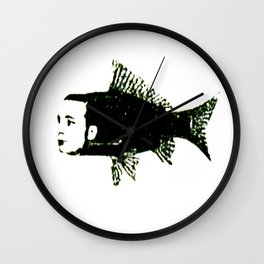 Self Portrait as Fish Wall Clock