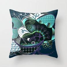 Winter tangle night Throw Pillow