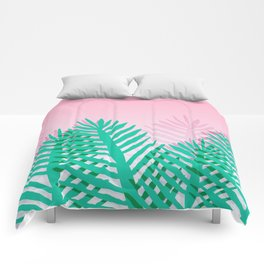 So Fine - palm springs desert plants indoor tropical oasis nature neon memphis throwback 1980s style Comforters