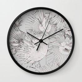 Palms Leaves and Texture #society6 #decor #buyart Wall Clock