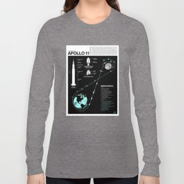 Apollo 11 Mission Diagram Long Sleeve T-shirt