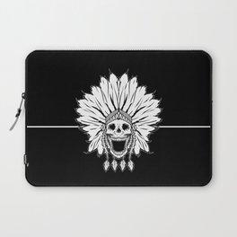 Shaman skull black & white Laptop Sleeve
