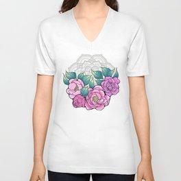 Peony Bouquet Mandala Unisex V-Neck