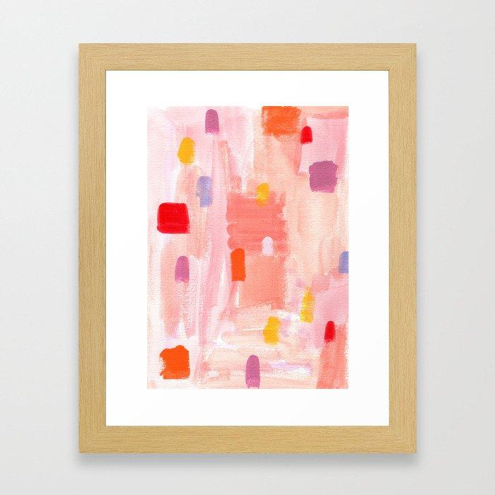 Put Sorrows In A Jar - abstract modern art minimal painting nursery Framed Art Print