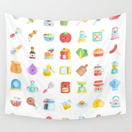 CUTE COOKING PATTERN Wall Tapestry